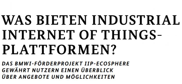 """IIP-Ecosphere mit Beitrag in """"Schlaglichter der Wirtschaftspolitik"""""""
