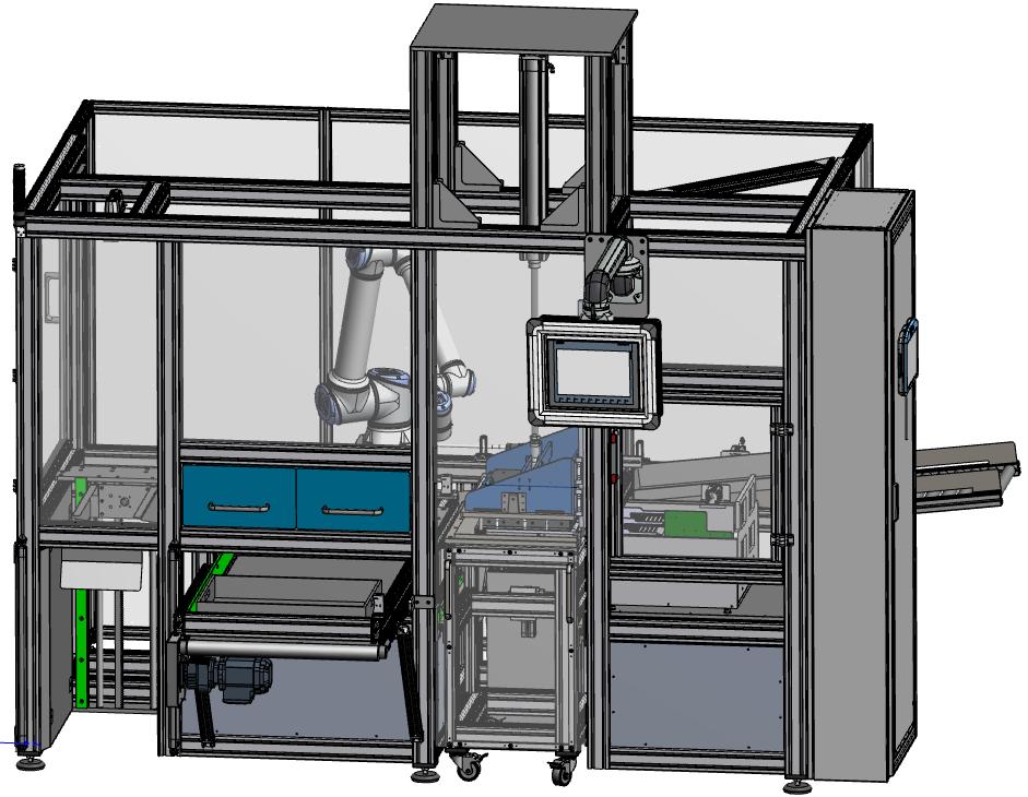 Abbildung der Prüfzelle in detaillierter 3D-Ansicht